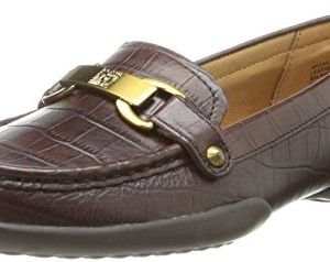 AK Anne Klein Women's Cailley Leather Slip-On Loafer