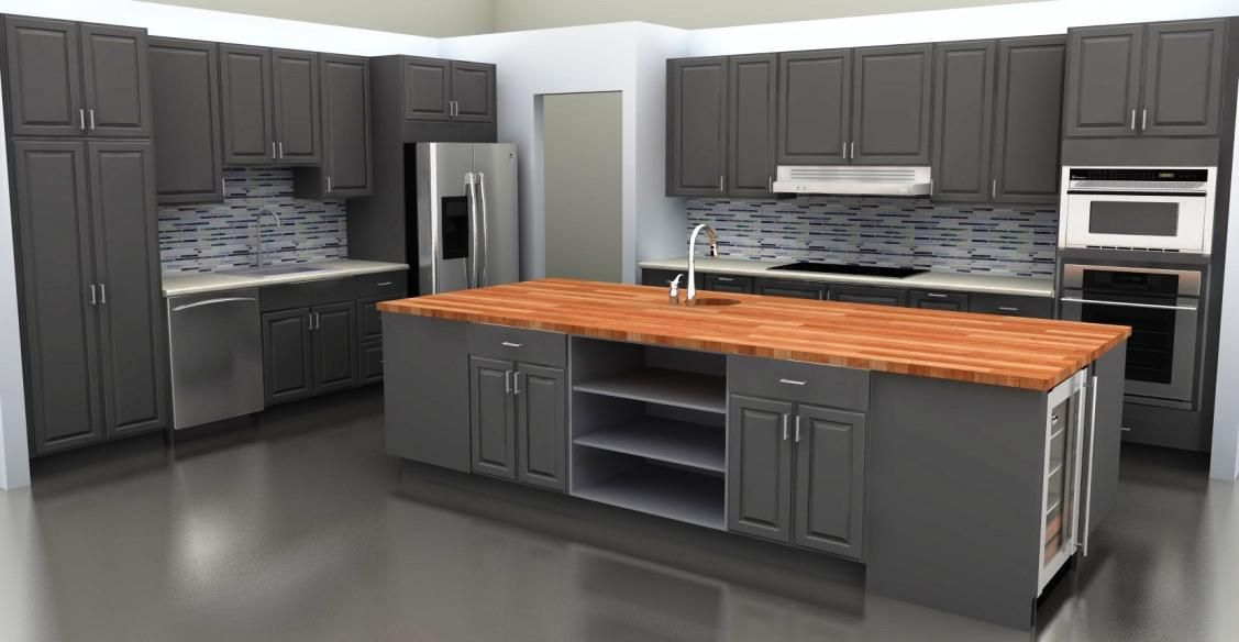 Best gray for kitchen cabinets top grey kitchen cabinets for Kitchen ideas 2018 grey