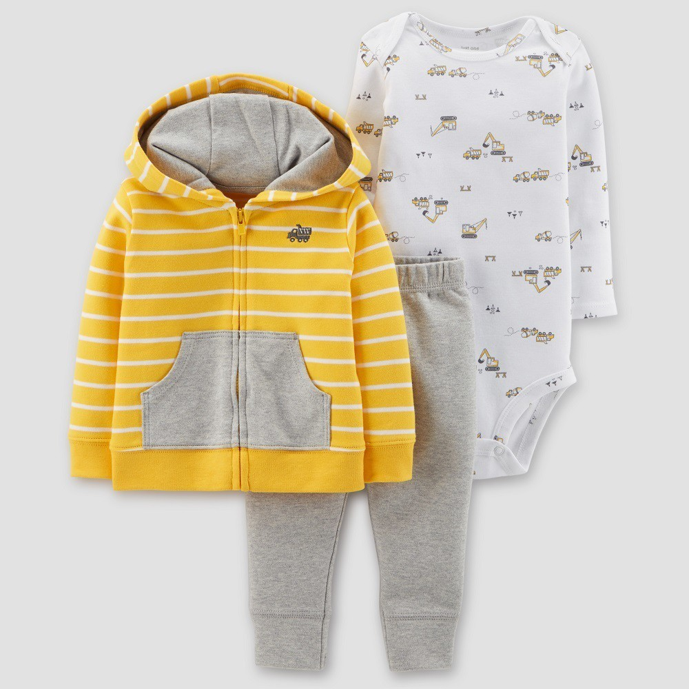 6de60f8cb Baby Boys' Construction 3pc Set - Just One You Made by Carter's Yellow/Gray  24M