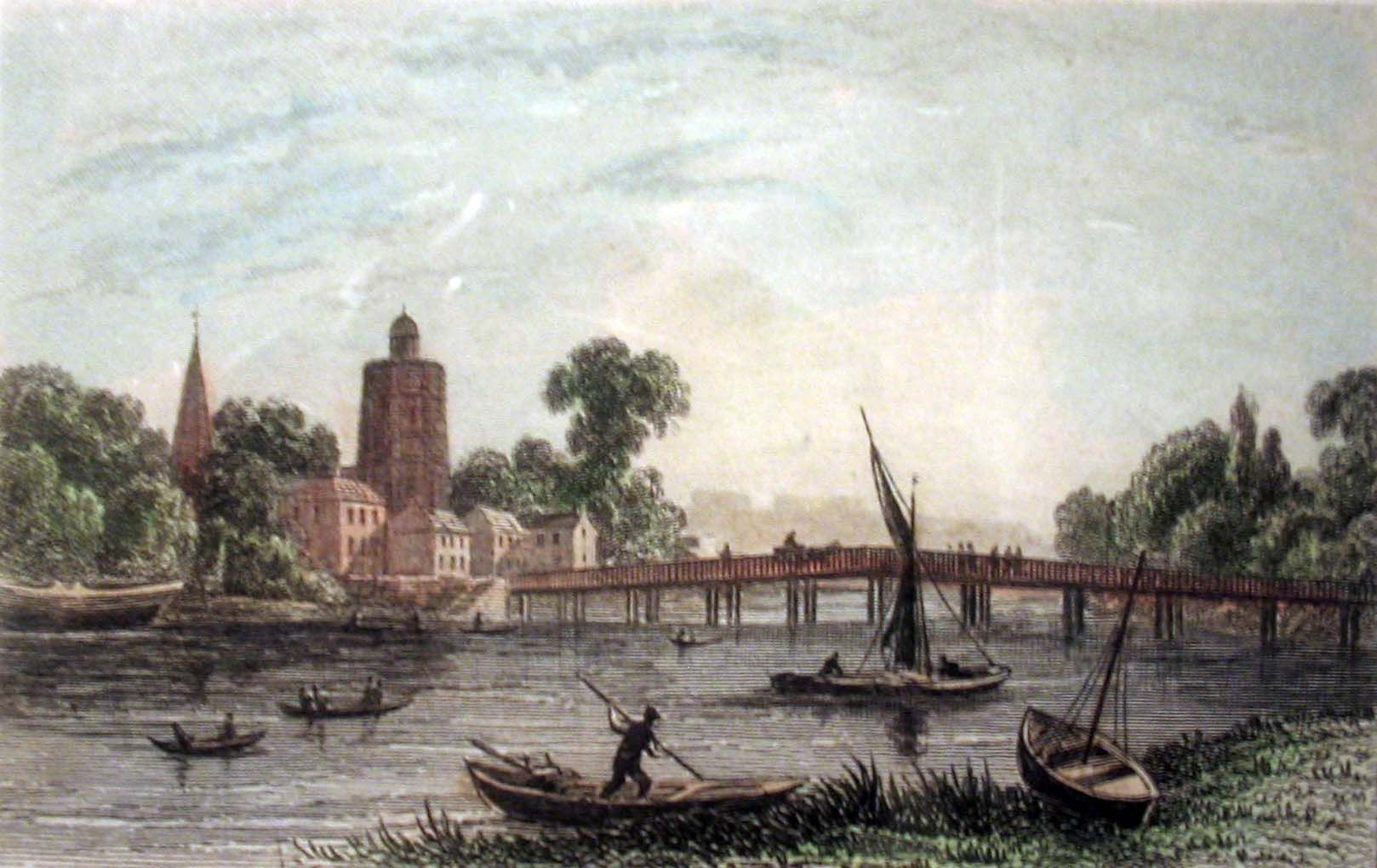 Image result for old battersea bridge 18th Century