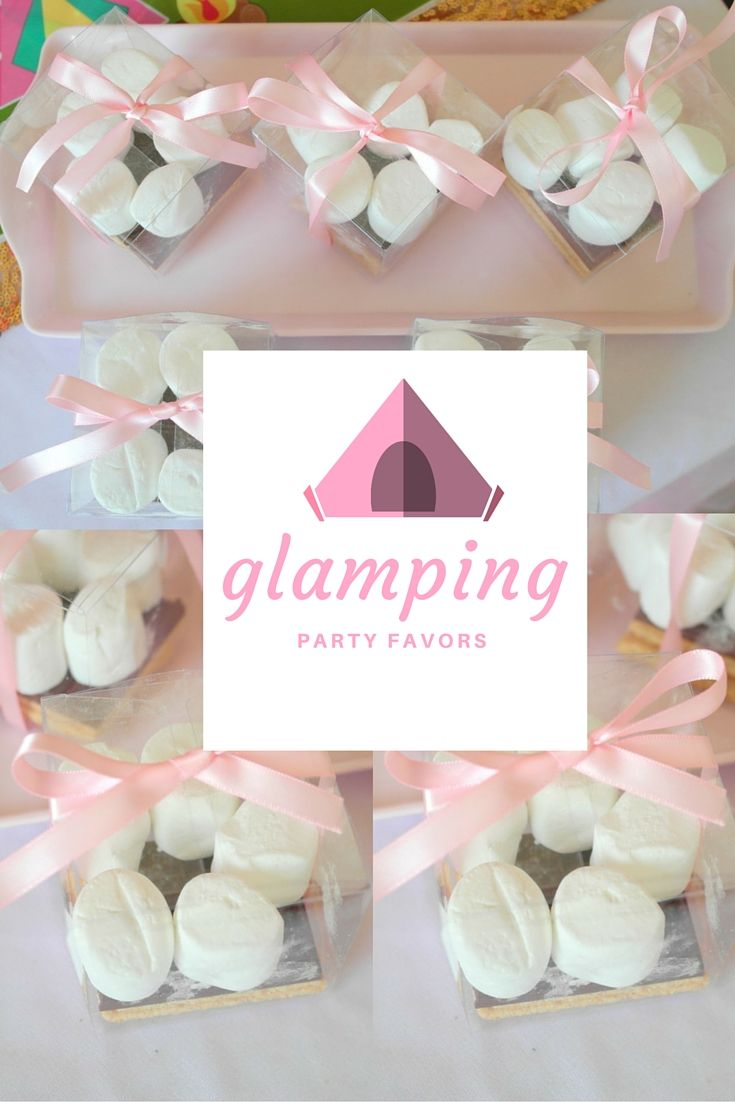 Need a glamping party favor? Put together extra packages of s\'more ...