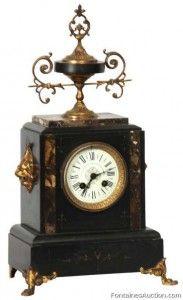 French Marble Mantle Clock Lot 179 Estimate 200 300 Clock Vintage Clock Antique Clocks