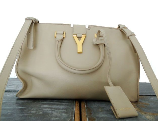 1e6647b8dcc8 YSL Saint Laurent Classic Small Y Cabas Bag Nude Powder  1