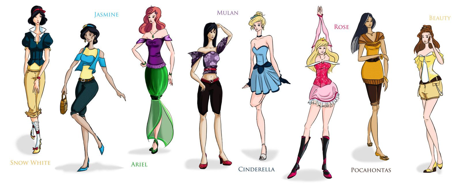 Disney Princesses by Cherie327.deviantart.com on ...