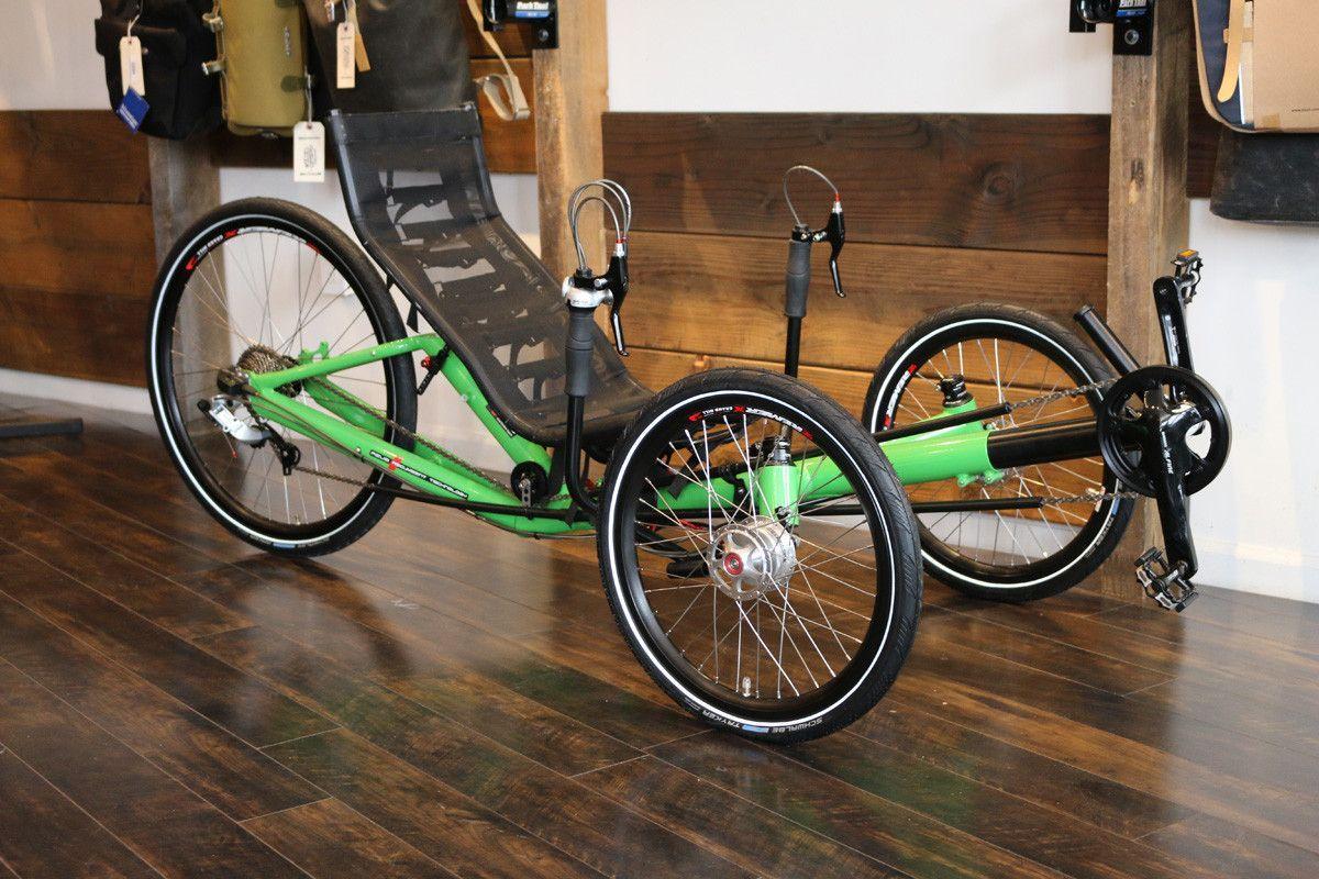 Demo Model Clearance Sale Azub T Tris 26 Inch Recumbent Trike Green Frame Recumbent Bicycle Trike Bike