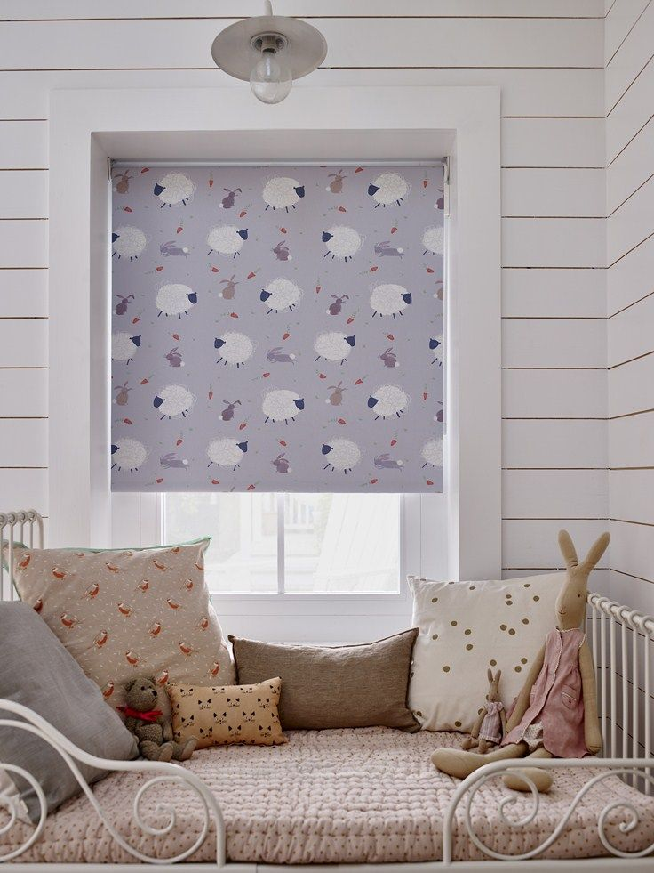 Bloc Blinds' Baa Baa Bunny Blackout Blind Print For Children's Rooms Stunning Blackout Blinds For Baby Room