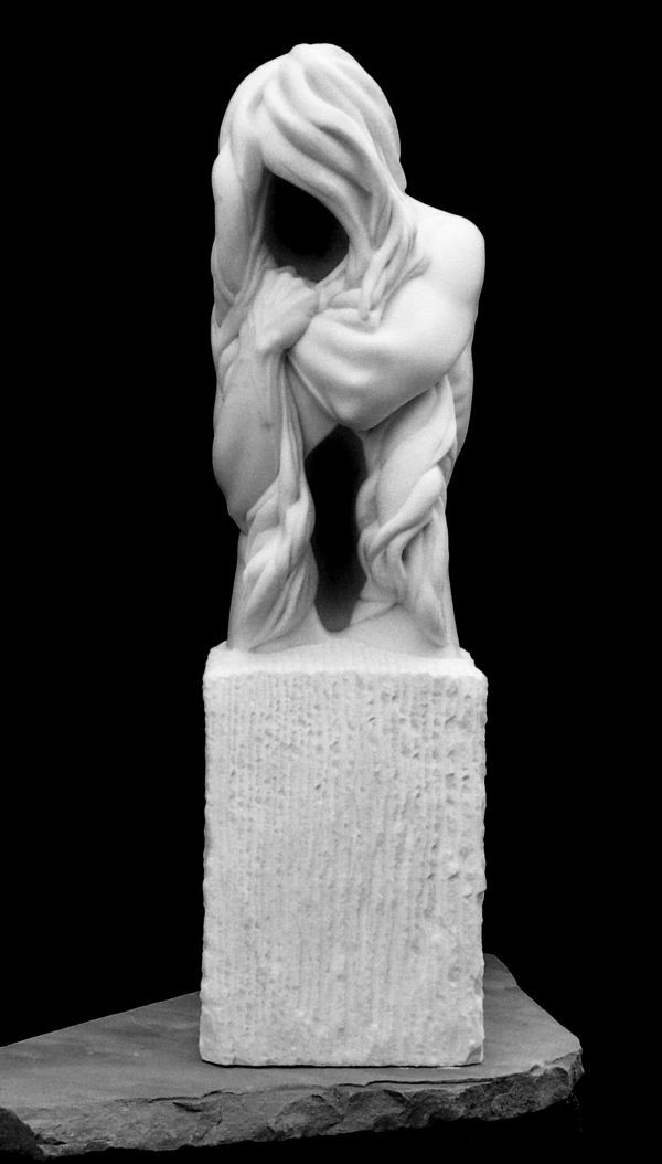 White Colorado Marble Sculpture By Sculptor Edward Fleming