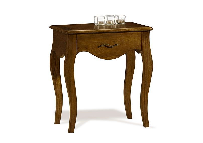 Mesa de noche deco material madera de teca alto 62 cms x ancho 56 cms x fondo 35 cms acabado - Mesas de noche de madera ...