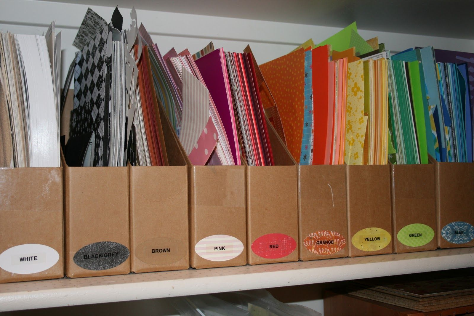 paper scraps how to organize