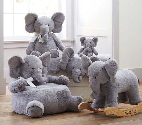 db76176ebc80 Nursery Elephant Plush Rocker
