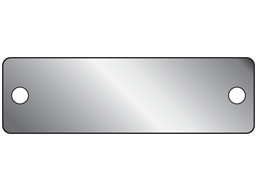 Blank Aluminium Nameplate 19mm X 63mm Bmnp2a Label Source Name Plate Metal Tags Stainless