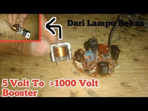 Cara Membuat Inverter 5 Ke 1000 Volt Dari Lampu Lhe Bekas - YouTube