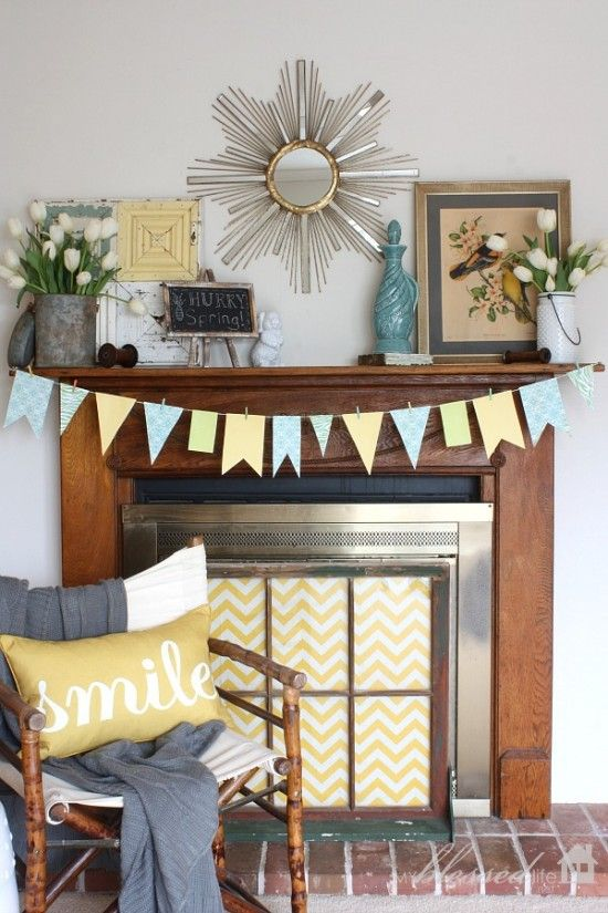 Spend An Afternoon Sprucing Up Your Fireplace! Itu0027s A DIY Project Youu0027ll Be
