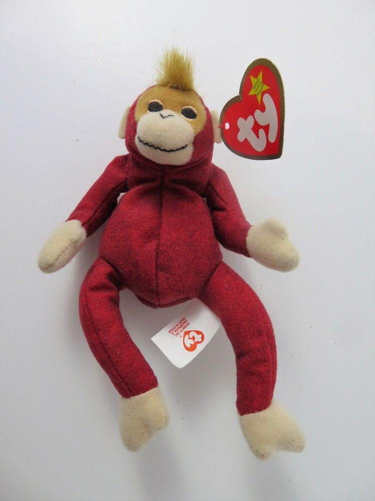 TY Teenie Beanie Baby SCHWEETHEART The ORANGUTAN 1998 McDonalds W Tags  Ty   Beanie 1f59cd7d3e