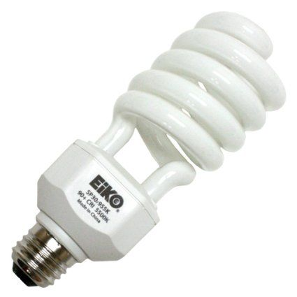 High Cri Daylight Cfl Eiko 30w 120v Spiral 5500k 90 Cri E26 Self Ballasted Compact Flour Fluorescent Light Bulb Compact Fluorescent Bulbs Art Studio Lighting