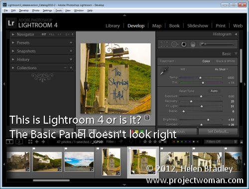 Lightroom version history