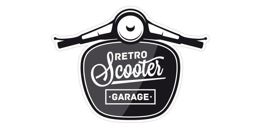 Retro Scooter Garage Typography Amp Graphic Desain Helm