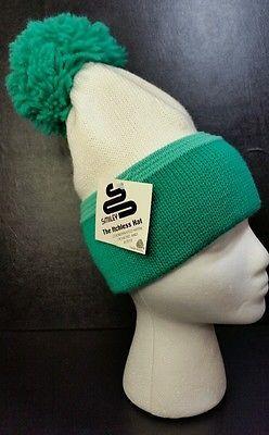 a268b41c803 Nos Vintage Smiley 100% wool ski Beanie hat sparks nevada snowboard tags  pompom
