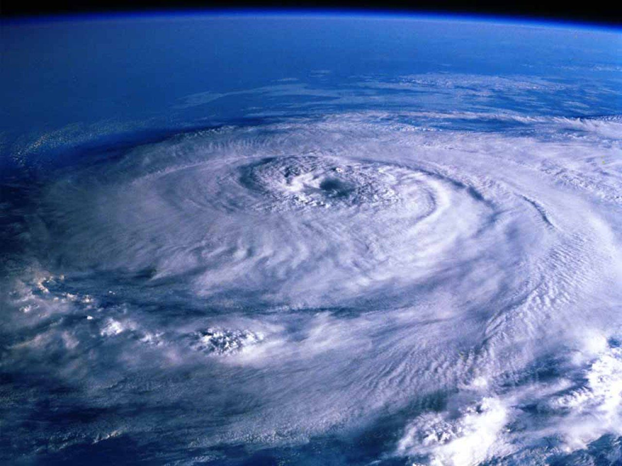 Cyclone Over Earth View From Space Earth From Space Natural Disasters Nature