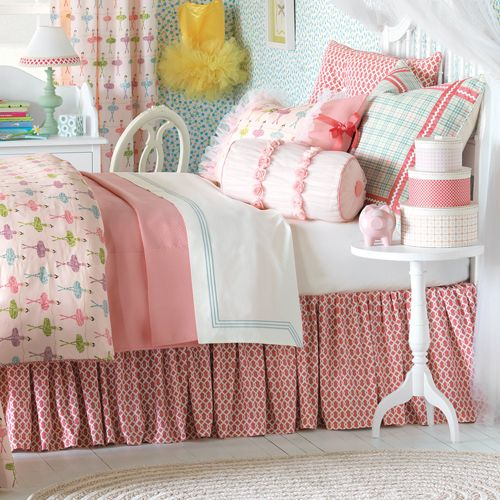 Maggie Pirouette Pink Bed Skirt from PoshTots