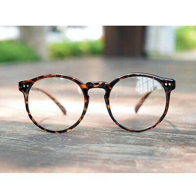 Photo of Details about 1920sVintage Round oliver retro classic eyeglasses 82e41 Leopard frames rubyruby