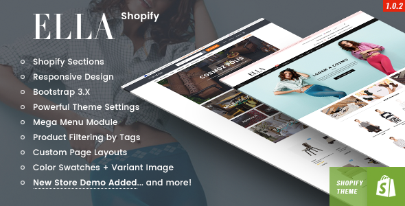 Ella Responsive Shopify Template Sections Ready WP Themes - Shopify custom page template