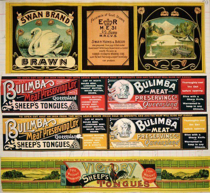 Printing Labels, Vintage Pantry