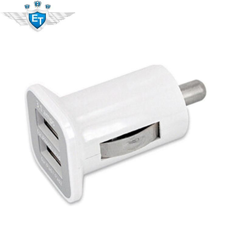 Dual USB Car Charger For iphone 6 5S 4S For iPad 2 Universal Car Charger For Cellphone Tablet USB Power Supply 5V 1A + 2.1A