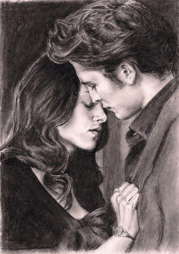 Картинки сумерки белла и эдвард карандашом
