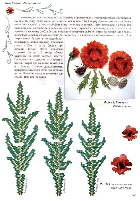 Бисер для изготовления цветов