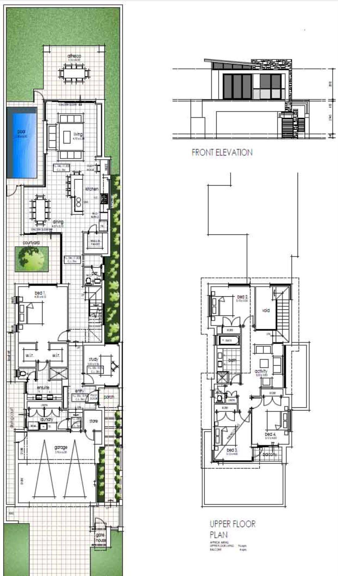 Longhouse floor plan 2 Architecture Narrow lot house