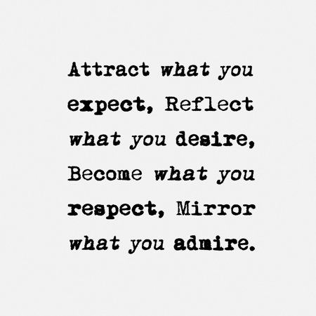 Attract What You Expect Painting Print on Wrapped Canvas Size: 12 inch x 12 inch, Black