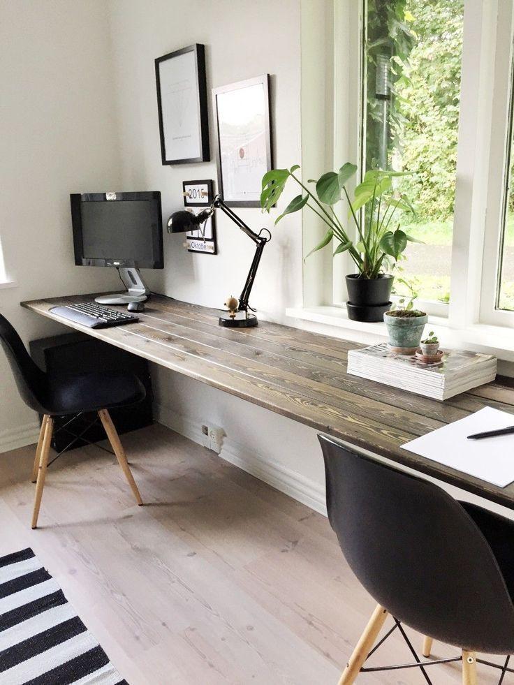 15 umwerfende DIY-Eckschreibtisch-Designs, die Sie inspirieren | Home-Office-Ideen für zwei | Heimbüro … – home office design layout