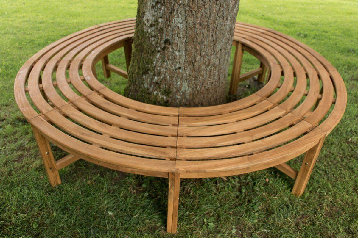 CLP Circular Tree Bench NILA, inner Ø 115 cm, outer Ø 203 cm, made ...