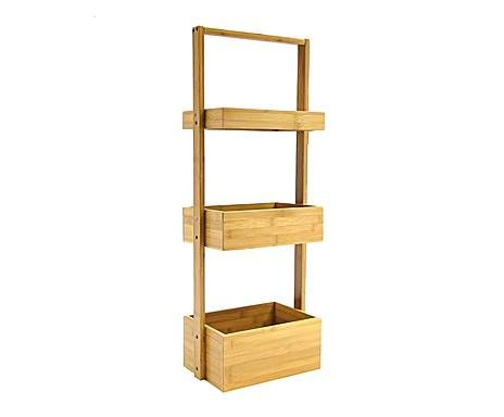 Estantería de bambú con 3 cajones