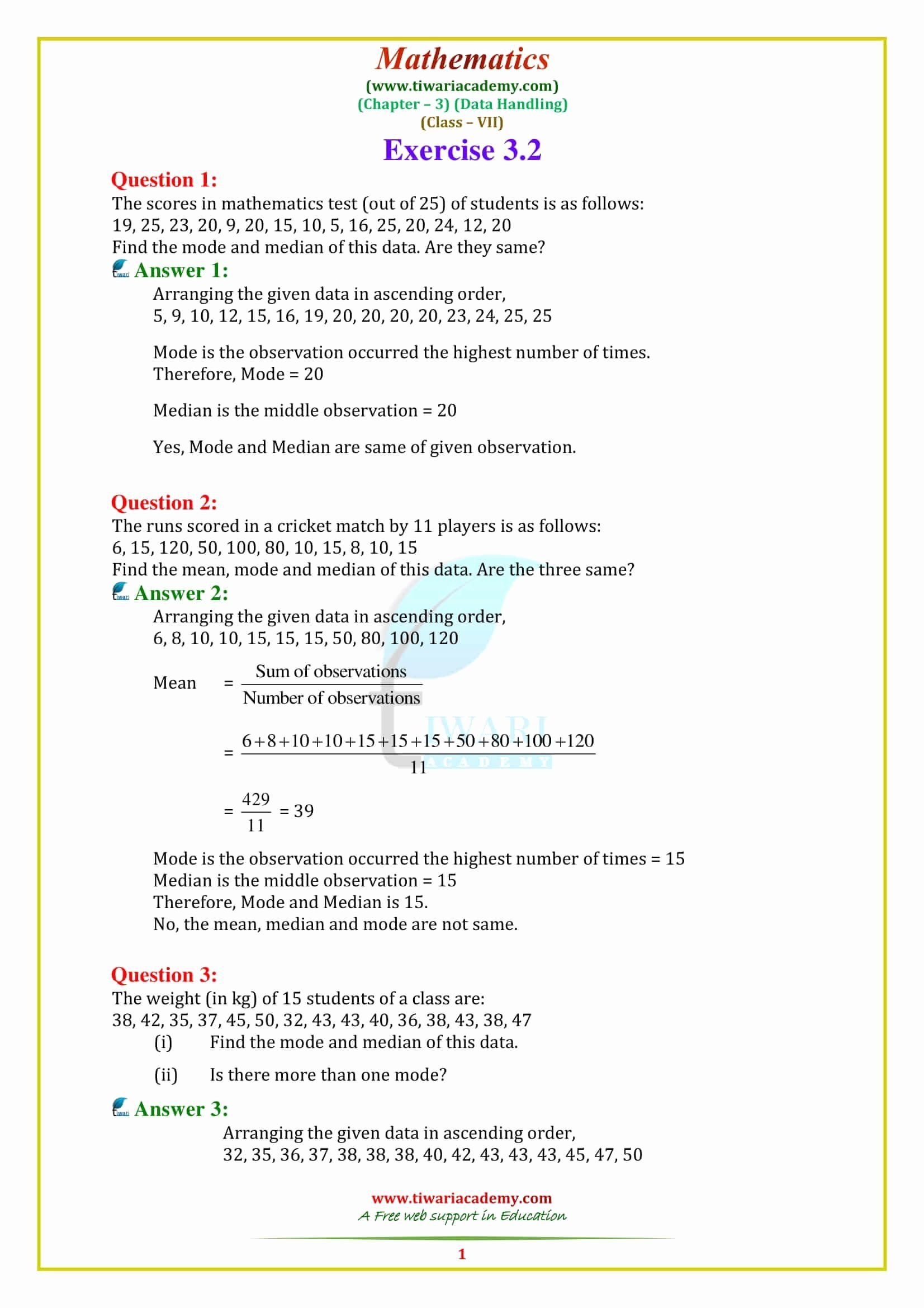 small resolution of Capacity Worksheets 3rd Grade Inspirational Ncert solutions for Maths  Chapter Math 7th Grade Cbse   Math worksheet