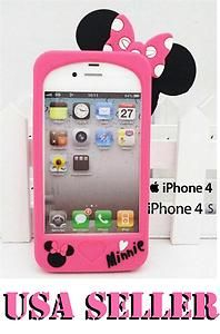 separation shoes f8cb9 ec81c Apple iPhone 4 4G 4S Pink Minnie Mouse Mickey Soft Silicone Rubber ...