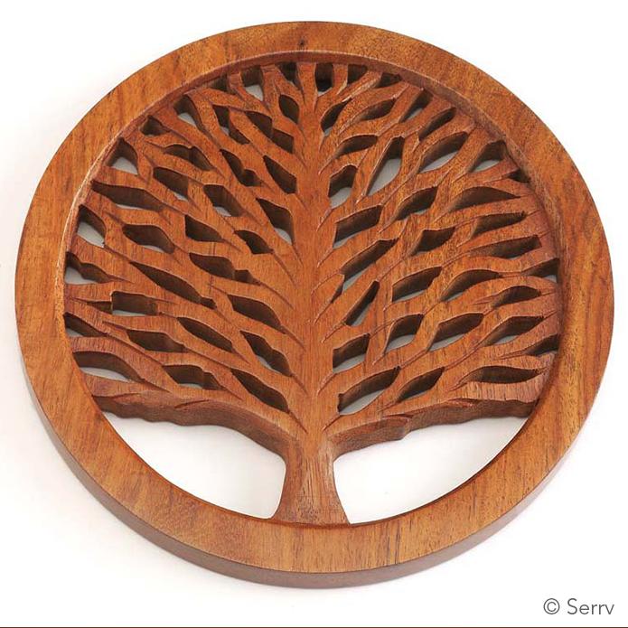 Tree Of Life Shesham Trivet Wood Trivets Scroll Saw Patterns Scroll Saw
