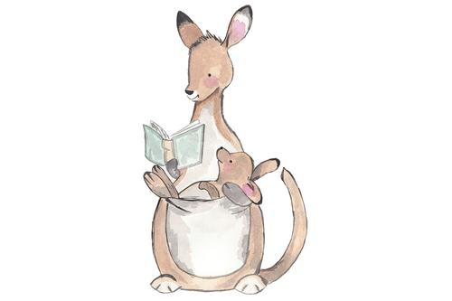 Watercolor Illustration Baby Kangaroo Kangaroo Art Kangaroo Illustration Kangaroo Drawing