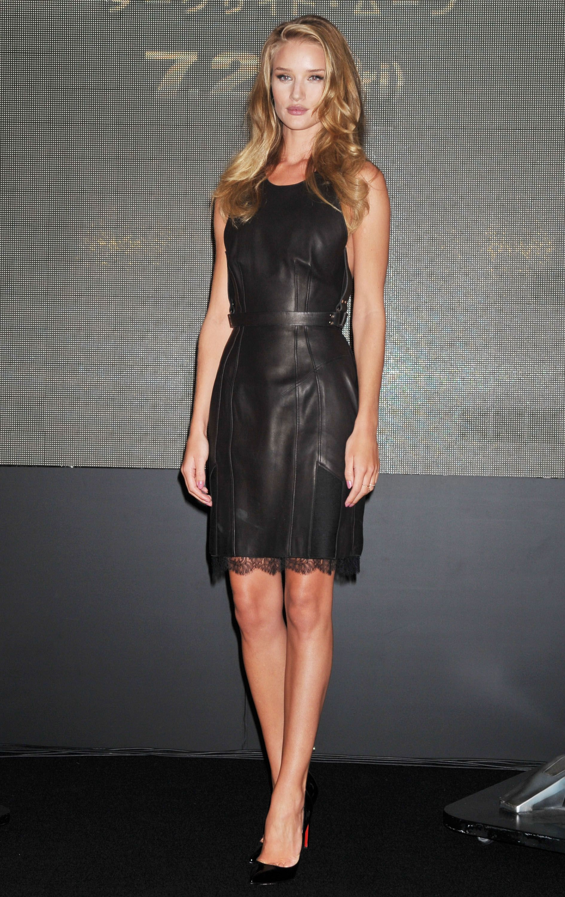 Celebrities In Leather: Rosie Huntington Whiteley in ...