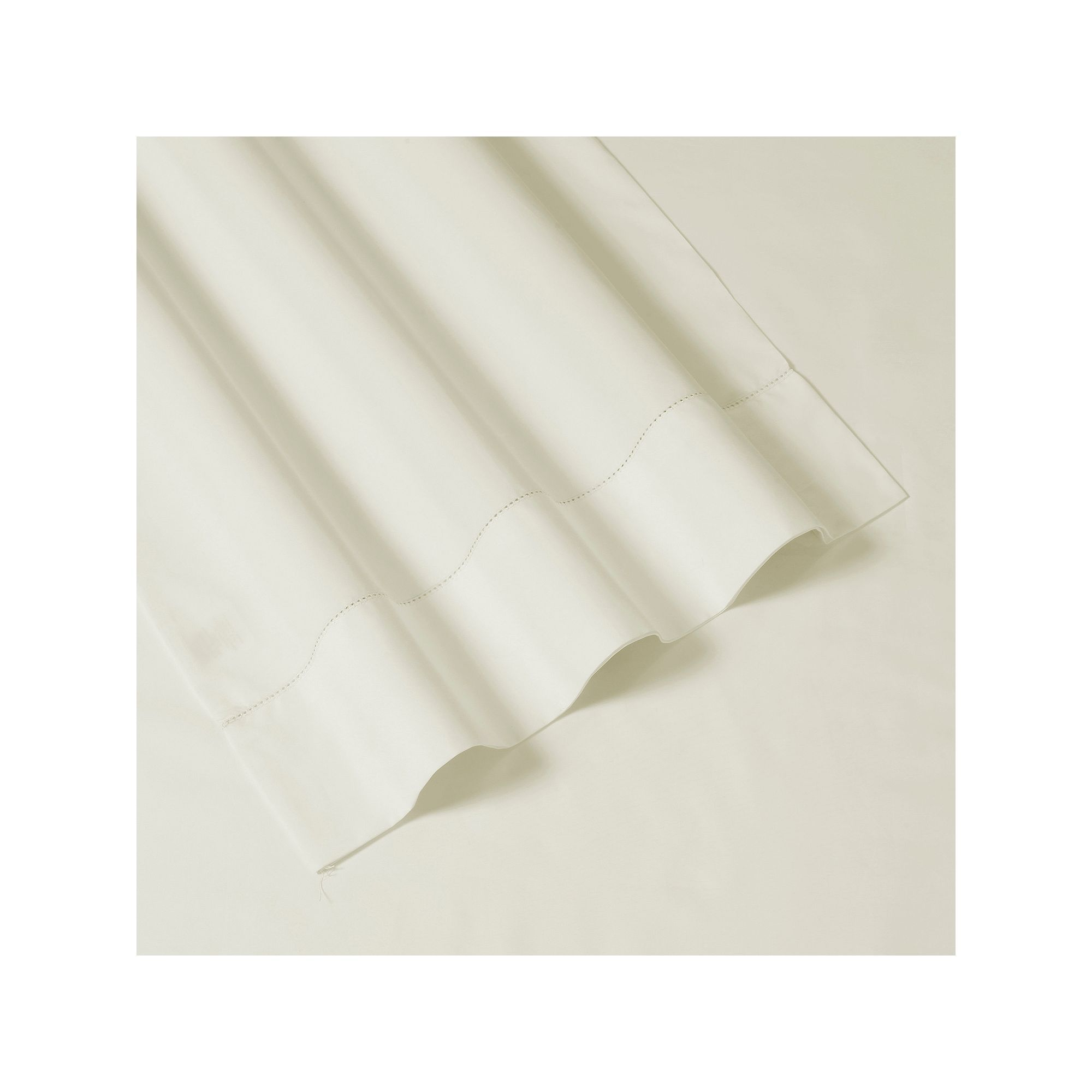 500 Thread Count 4-piece Cotton Percale Extra Deep Pocket Sheet Set, Natural Cal King
