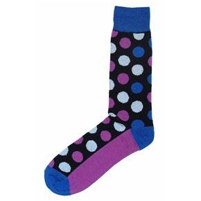 Black Purple Blue Polka Dot Men S Dress Socks English Laundry