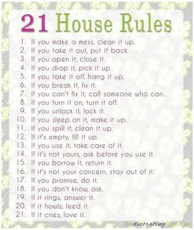 1000+ ideas about House Rules Chart on Pinterest | Chore Charts, Cell Phone Contract and Chore Chart For Kids