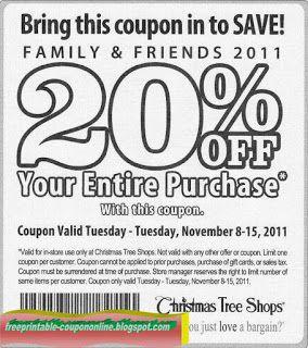 Free Printable Christmas Tree Shops Coupons Christmas Tree Shop Christmas Central Free Printable Coupons