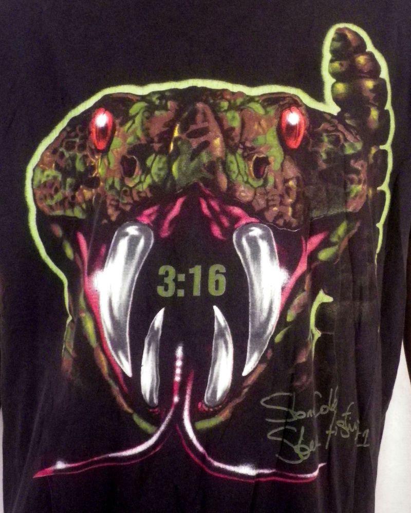 882dd457149e vtg 90s WWF Stone Cold Steve Austin T-Shirt Rattlesnake Stunner Wrestling XL