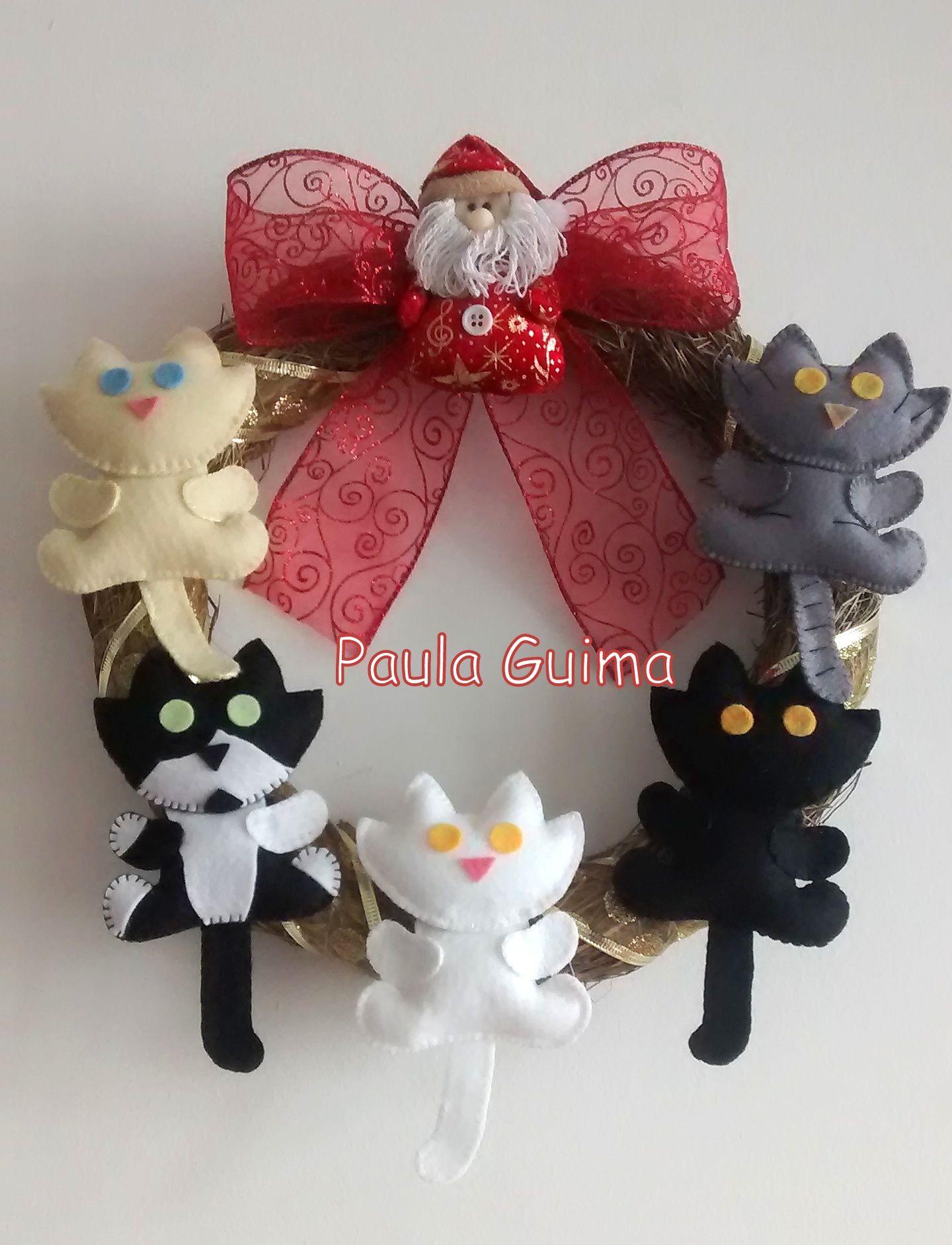 Guirlanda personalizada com os gatinhos da Jaque!