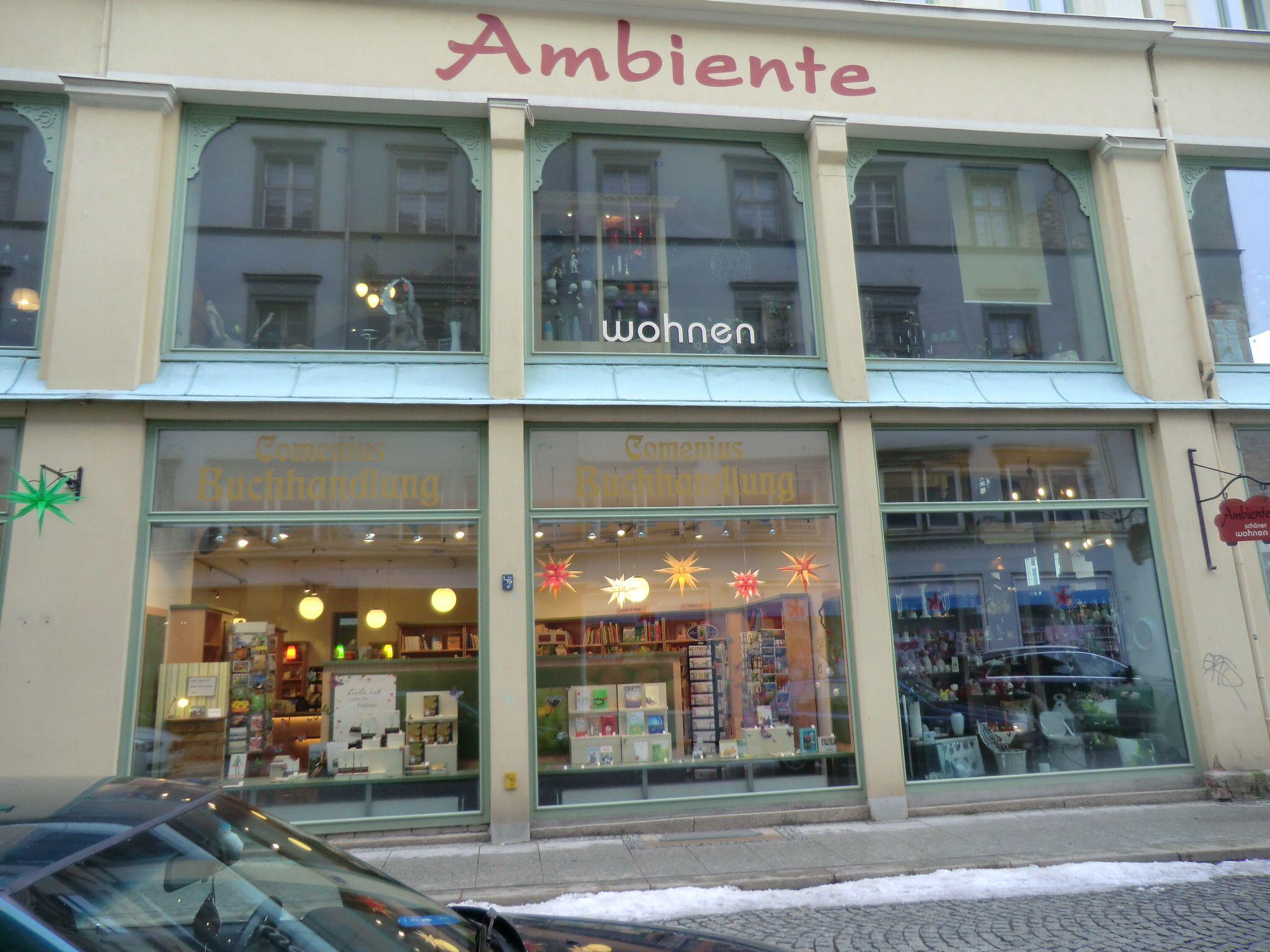 Comeniusbuchhandlung und WohnAmbiente auf der Steinstrasse