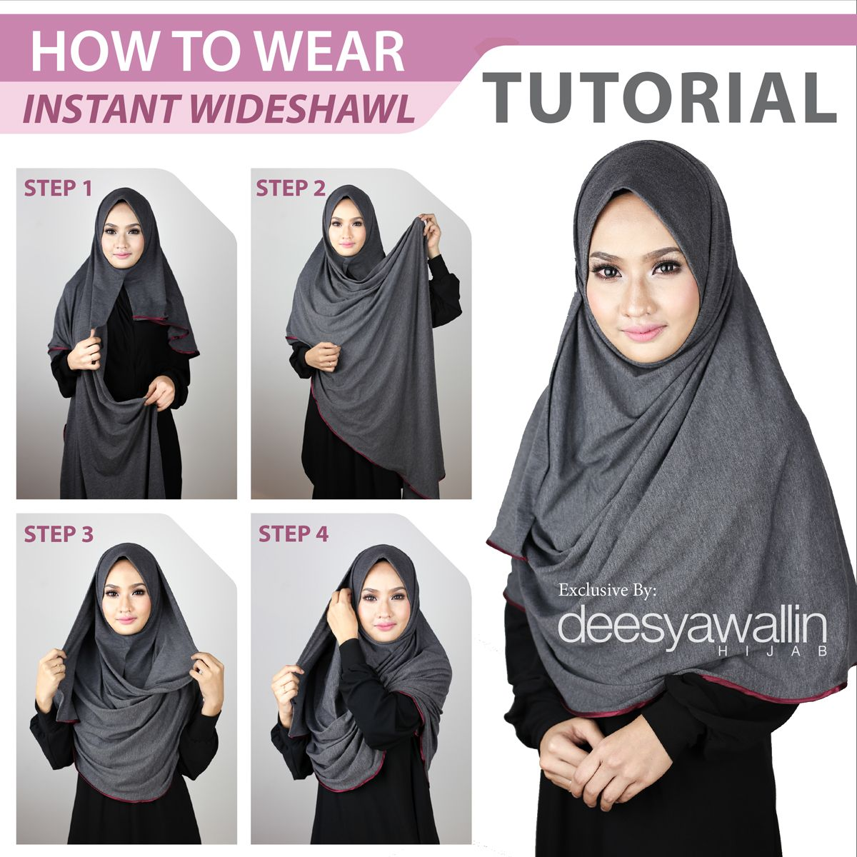 Tutorial Chiffon Wideshawl Facebook Closet Heart Official