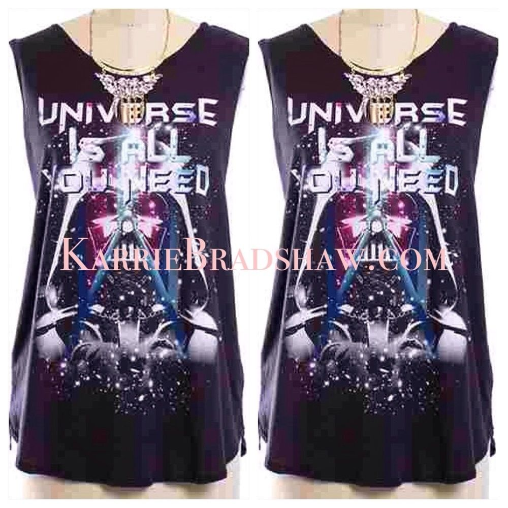 LOVE FILLED UNIVERSE GRAPHIC TEE   #fashion #inspiration #life #living #karriebradshaw #marriage #redbottoms #romance #love