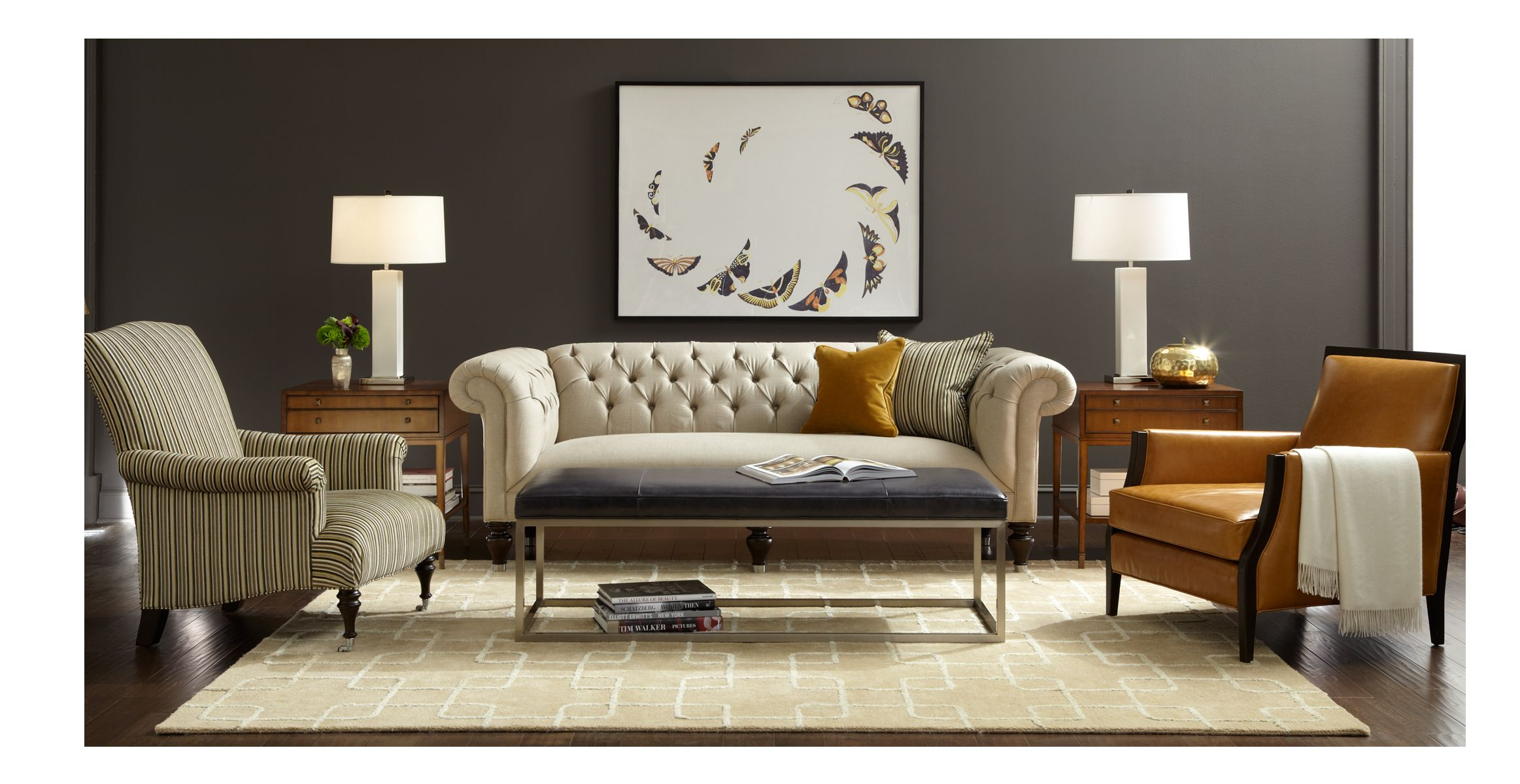 CHESTER COLLECTION   Tufted Sofa || Mitchell Gold + Bob Williams Home